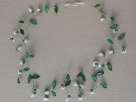 Röschen | 2 Str. Glas, Stahlseil, Silber | 110487-14