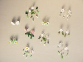 Ohrschmuck verschiedene Modelle | Glas, Silber, z.T. Stahlseil