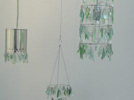 versch. Lampen u. Teelichte | Flaschenglas, Stahlseil, Draht, Dosen