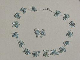 kleine Heckscheibenscherben gebündelt | 1 Str., Glas,Stahlseil, Silber | 180635-11