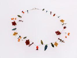 Herbst | 1 Str.+ A, Glas, Stahlseil, Silber | 130572-09