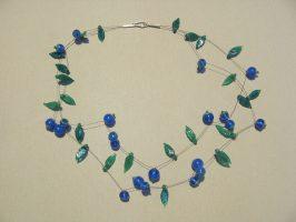 Heidelbeeren | 2 Str., Glas, Stahlseil, Silber | 090795-16