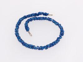 Octopus blau | 1-reihig, Glas, Stahlseil, Silber | 160258-14