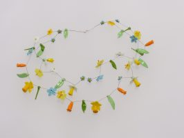 Frühlingsblüten | 2 Str., Glas, Stahlseil, Silber | 130893-16