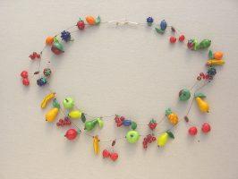 Obst | 2 Str., Glas, Stahlseil, Silber | 220816-15