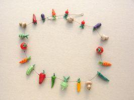Gemüse | 1 Str., Glas, Stahlseil, Silber | 10616-11