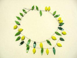 Zitronen | 2 Str.,Glas, Stahlseil, Silber | 140819-15