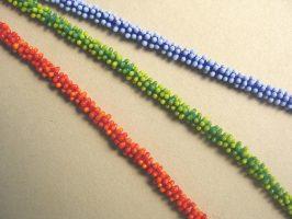Miniblüten kompakt | 1-reihig, Glas, Stahlseil, Silber | 160292-03