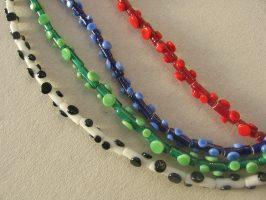 Walzen mit Plättchen | 1-reihig, Glas, Stahlseil, Silber | 090669-12