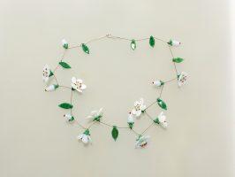Obstblüte | 1 Str. Glas, Stahlseil, Silber | 110900-17