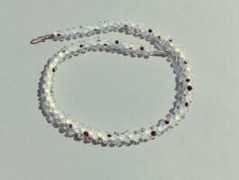 """Glanz""kompakt, weiß-schw.-transp. | Glas, Stahlseil, Silber | 130955-18"