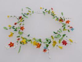 Frühlingsblüten | offen, Glas, Stahlseil, Silber | 260934-18