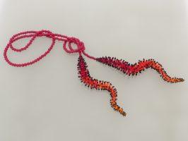 Pünktelwurm Farbverlauf rot-orange | offen, lang | 160932-18