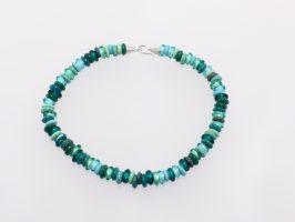 Ringerl mittelgroß, türkistöne mit Kegelverschluss | Glas, Nylon, Silber | 095103-17