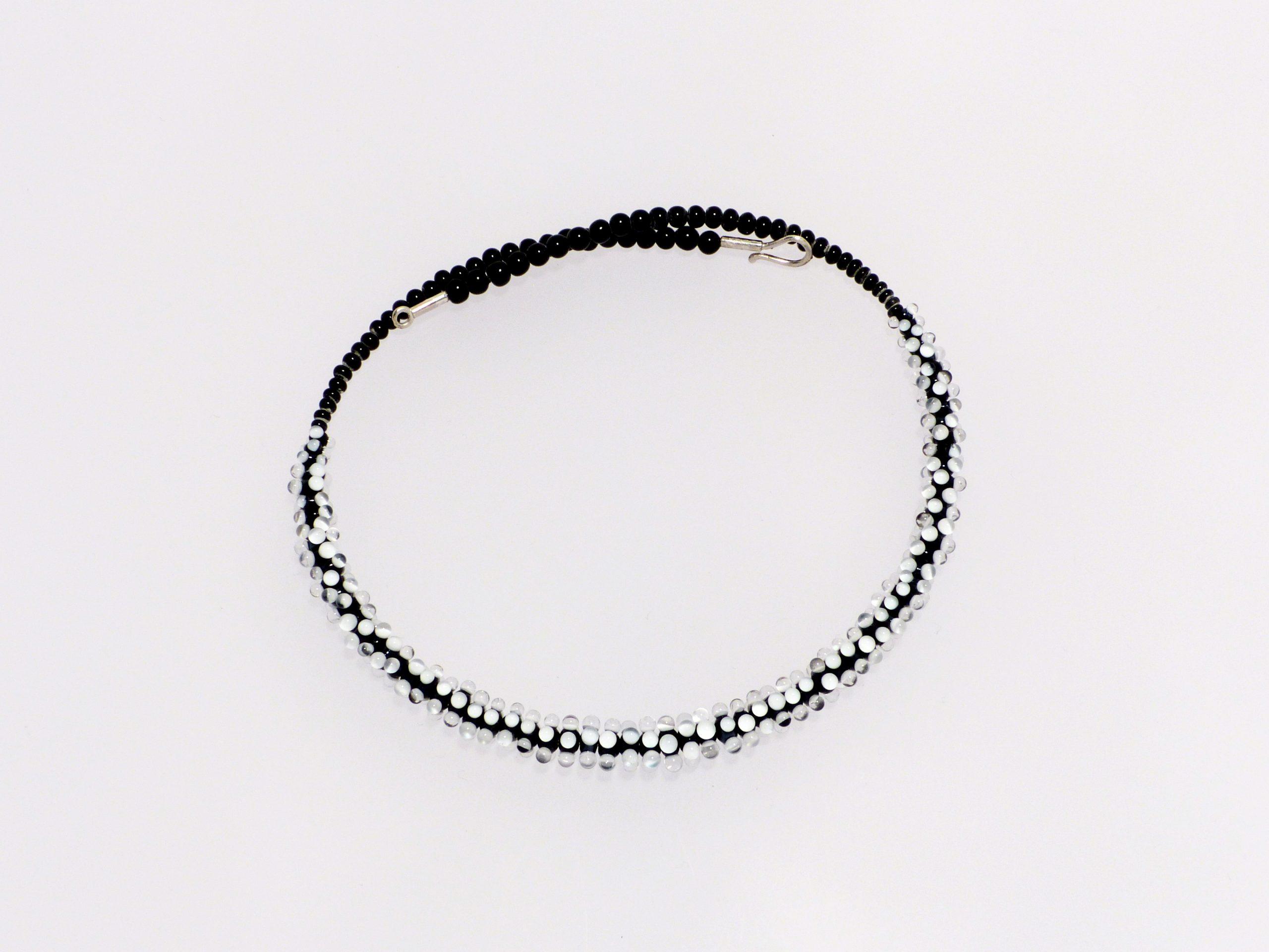 Glanz kompakt, vorne | 3 farbig, Glas, Stahlseil, Silber | 120996-19