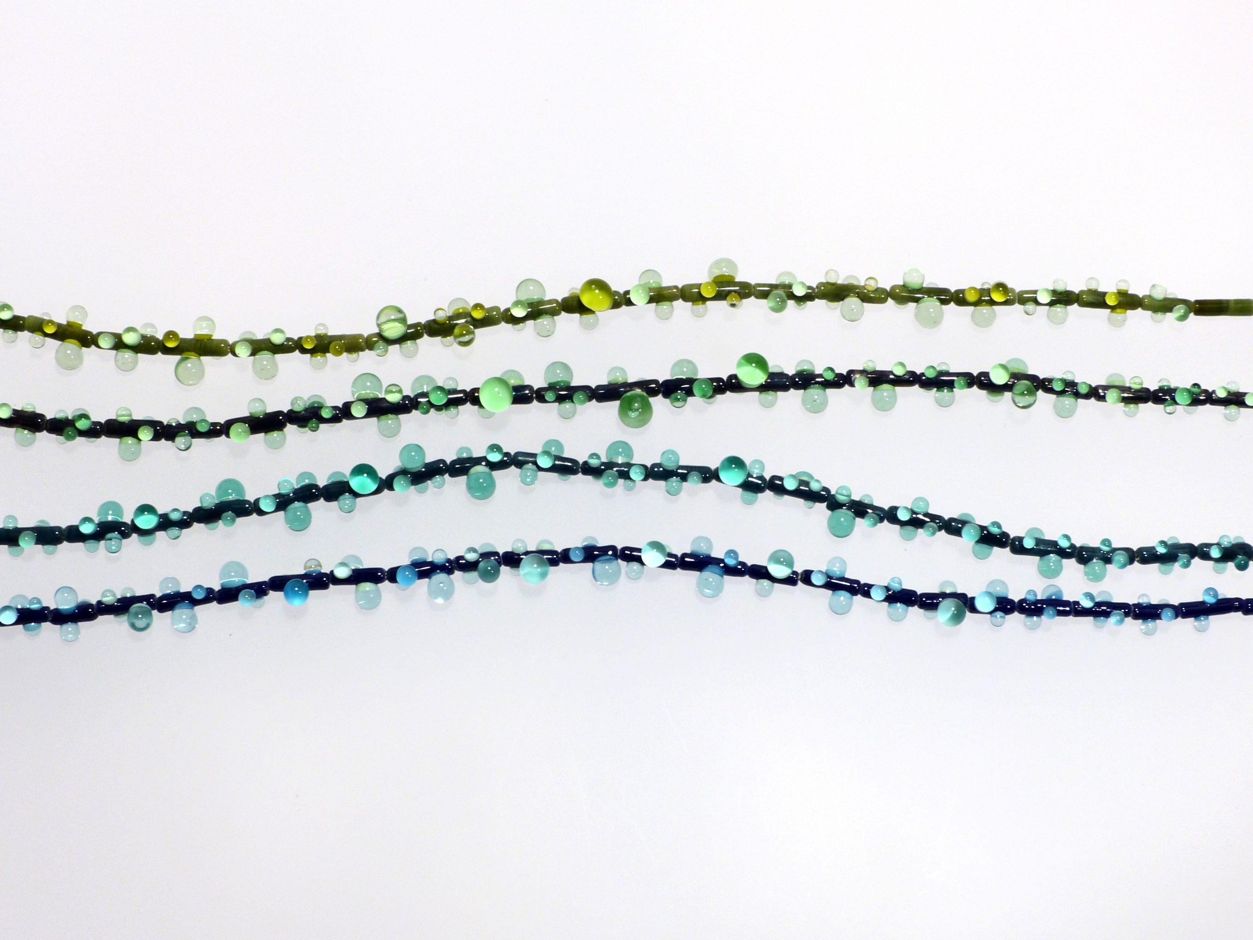 Tau 3 farbig, versch. | Glas, Stahlseil, Silber | 090997-20